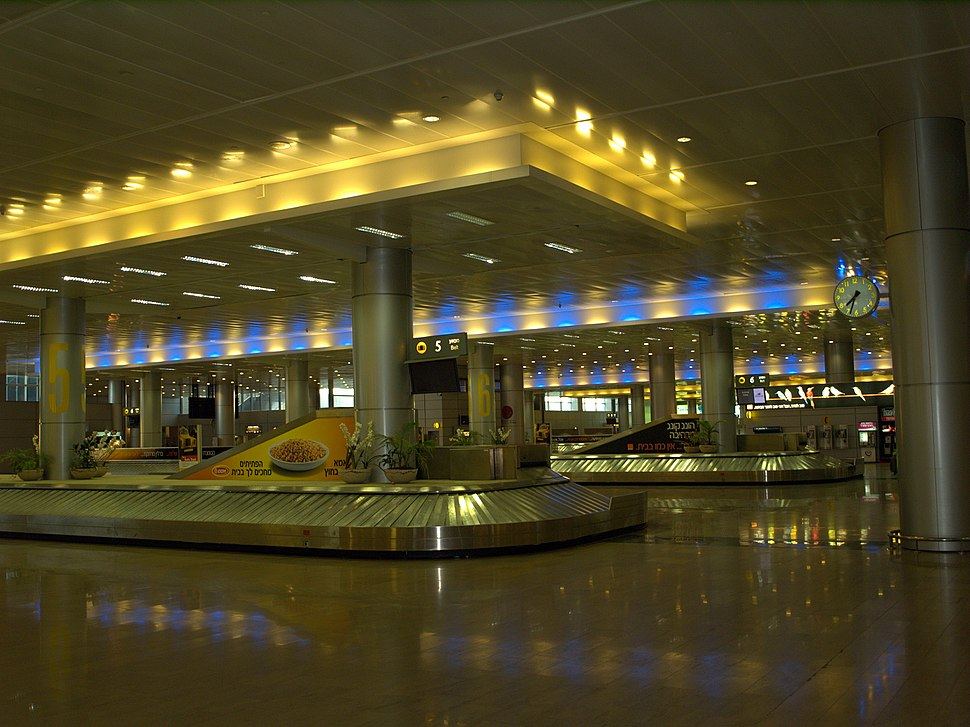 Luggage carousel at Ben Gurion International Airort