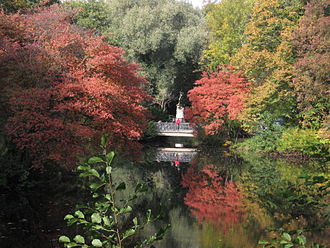Tiergarten, Berlin - Luiseninsel in autumn