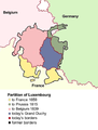 The three Partitions of Luxembourg greatly reduced Luxembourg's territory.