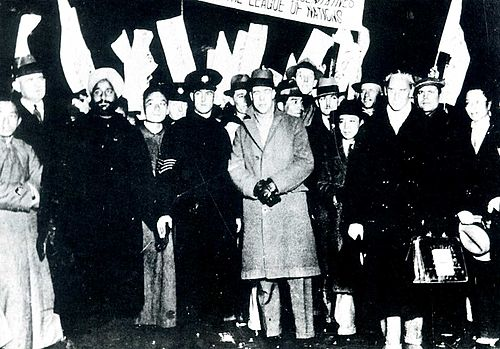 Lytton Commission members in Shanghai (Lord Lytton wearing a coat in center of photo) Lytton Commission in Shanghai.jpg