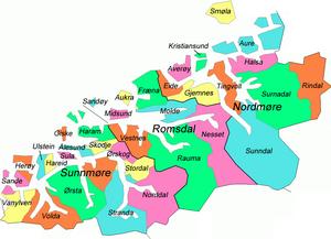 Møre og Romsdal - Location of Municipalities