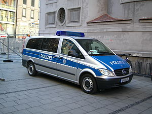 Landespolizei - German Mercedes-Benz police car, Erfurt