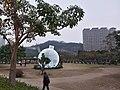 MC 澳門 Macau 氹仔 Taipa 望德聖母灣街 Rua da Baía de Nossa Senhora de Esperança public park n Cotai building evening January 2019 SSG.jpg