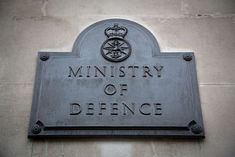 Ministry of Defence (United Kingdom) - The plaque outside the South Door of the MoD's Main Building.
