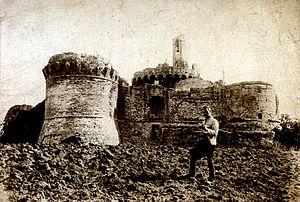 Monte Poggiolo - View of the Castle of Monte Poggiolo from 1905.