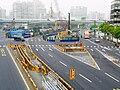 MRT Songshan Line construction at Section 1, Zhonghua Road 20100321.jpg