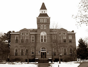 History of Michigan State University - Built in 1881 as the Library–Museum, Linton Hall is one of the university's oldest buildings. (2005 photo)