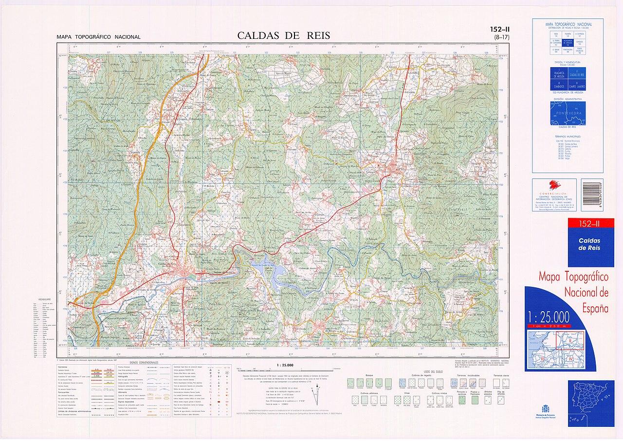Caldas De Reis Mapa.File Mtn25 0152c2 2001 Caldas De Reis Jpg Wikimedia Commons