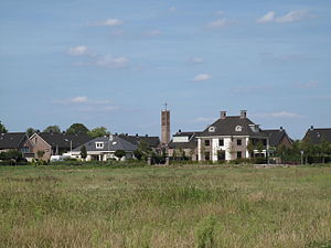 Maasdijk, Westland - Maasdijk, view to the village