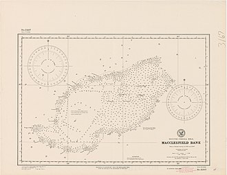 Fathom - Old nautical chart by the Hydrographic Office, showing depths in fathoms