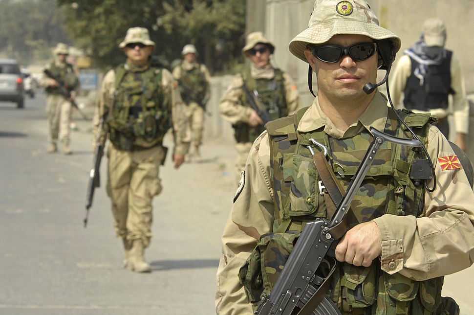 Macedonian Soldiers in Kabul
