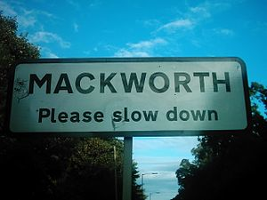 Mackworth signpost on Ashbourne Road (A52), Ma...
