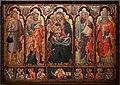Maestro di santa barbara a matera, madonna del latte e santi, 1410 ca. 02.jpg