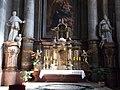 Main altar, Statues of Saint Louis and Saint Bonaventure, Minorite Church in Eger, 2016 Hungary.jpg