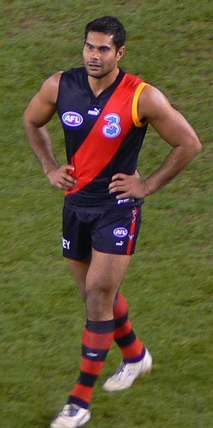 Mal Michael - Michael in Essendon colours