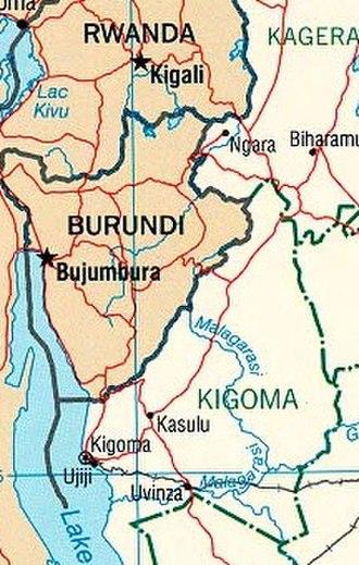 Kigoma Region - Most of Kigoma Region showing the Malagarasi River