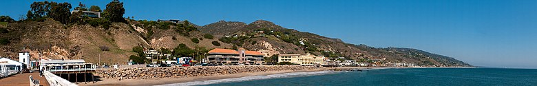 Panorama of Malibu Beach from Malibu Pier
