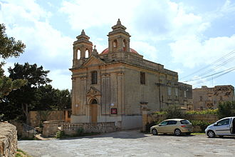 Tas-Silġ - The nearby Church of Our Lady of the Snows, from which Tas-Silġ takes its name.