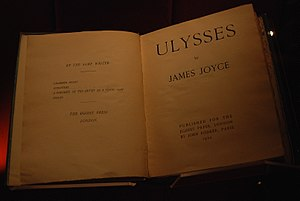 John Rylands Library - First edition of Ulysses by James Joyce