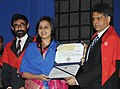 Manish Tewari presented the PG diplomas to the successful students of various courses for the academic year 2011-12, at the 45th Annual Convocation of the Indian Institute of Mass Communication (IIMC), in New Delhi (1).jpg