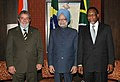 Manmohan Singh with the President of Brazil, Mr. Lula da Silva and the President of South Africa, Mr. Kgalema Motlanthe, at the Third Summit of the India, Brazil & South Africa (IBSA) Dialogue Forum, in New Delhi (1).jpg