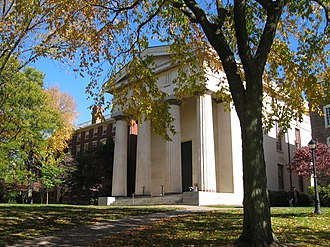 College of Brown University - Manning Hall on Brown's Quiet Green