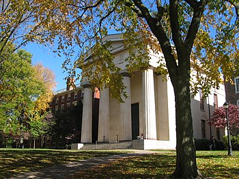 Hope College (left) was built in 1822, while Manning Hall (right) was built in 1834.