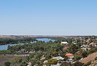Mannum Town in South Australia