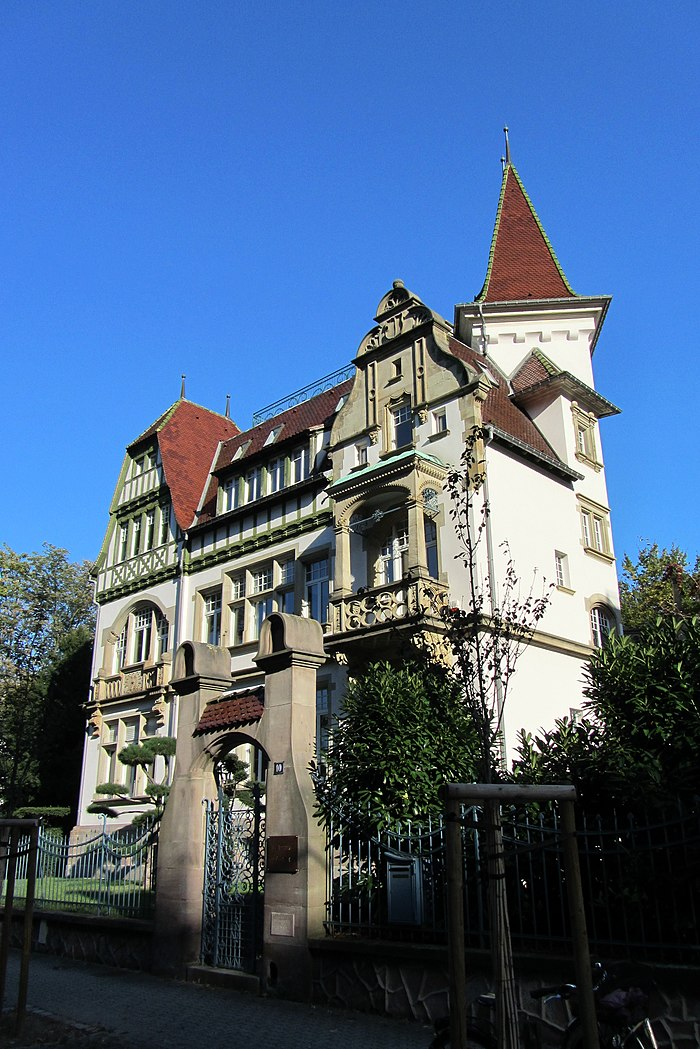villa osterloff monument historique strasbourg myopenweek. Black Bedroom Furniture Sets. Home Design Ideas