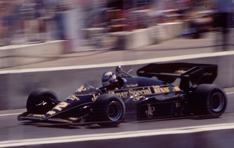 Mansell Lotus 95T Dallas 1984 F1