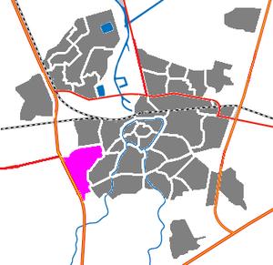 Princenhage - The location of Princenhage in the city of Breda, Netherlands