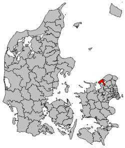 Lokalisering af Halsnæs Kommune