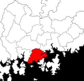 固城郡的位置