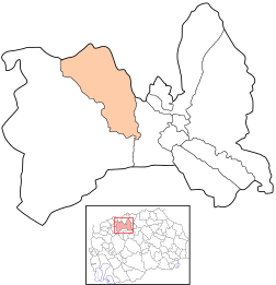 Map of Ǵorče Petrov Municipality, Macedonia.svg