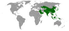 Countries in Asia with Burger King locations