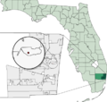 Map of Florida highlighting Lazy Lake.png