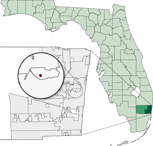 Map of Florida highlighting Lazy Lake.png