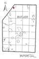 Map of Harrisville, Butler County, Pennsylvania Highlighted.png