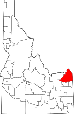 Map of Idaho highlighting Fremont County.svg