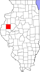 Map of Illinois highlighting McDonough County