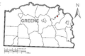 Map of Jefferson, Greene County, Pennsylvania Highlighted.png