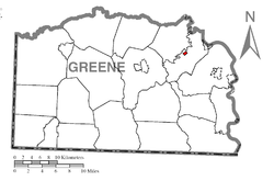 Location of Jefferson in Greene County