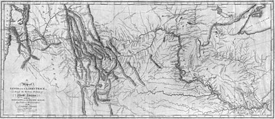 Map of Lewis and Clark's Track, Across the Western Portion of North America, published 1814.jpg