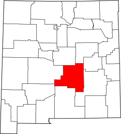Map of New Mexico highlighting Lincoln County.svg