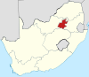 Map of South Africa with Gauteng highlighted.svg
