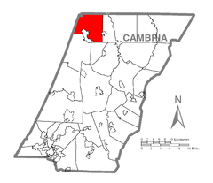 Map of Susquehanna Township, Cambria County, Pennsylvania Highlighted.png
