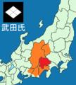 Map of Takeda clan 1572.png