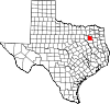 State map highlighting Van Zandt County