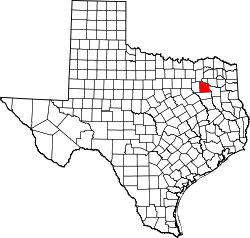 map of Texas highlighting Van Zandt County