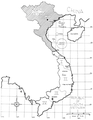 Map of Vietnam with approximate postions of the U.S. Navy units in the Gulf of Tonkin, circa in 1969-1970.png